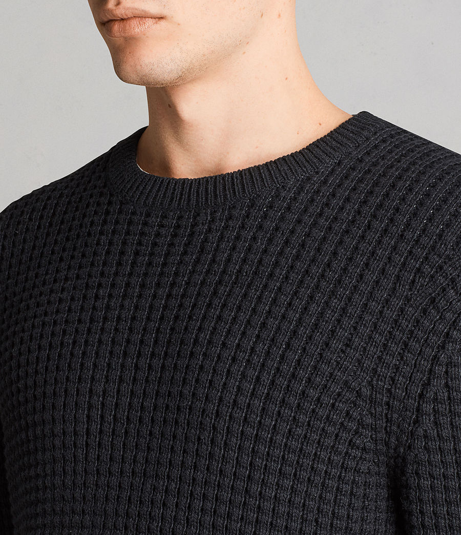 Men's Kee Crew Jumper (black) - Image 2
