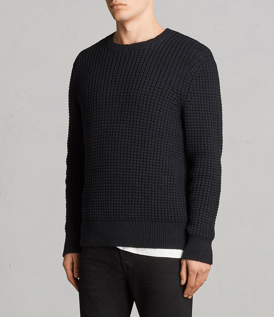Men's Kee Crew Jumper (Black) - Image 3