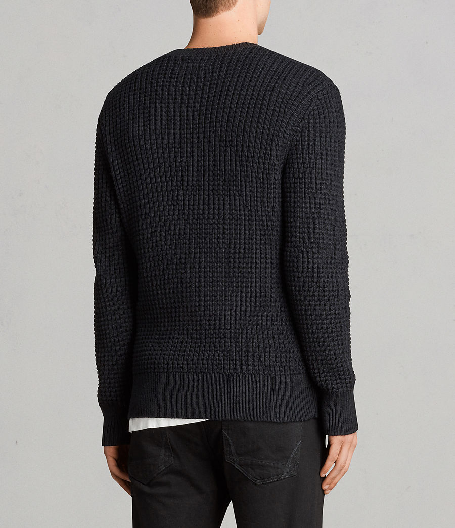 Men's Kee Crew Jumper (black) - Image 4