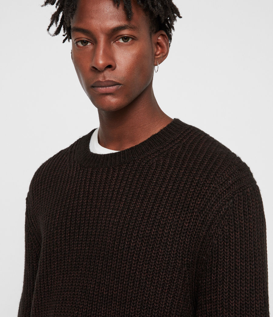 Men's Tilman Crew Jumper (dark_rust_red) - Image 2