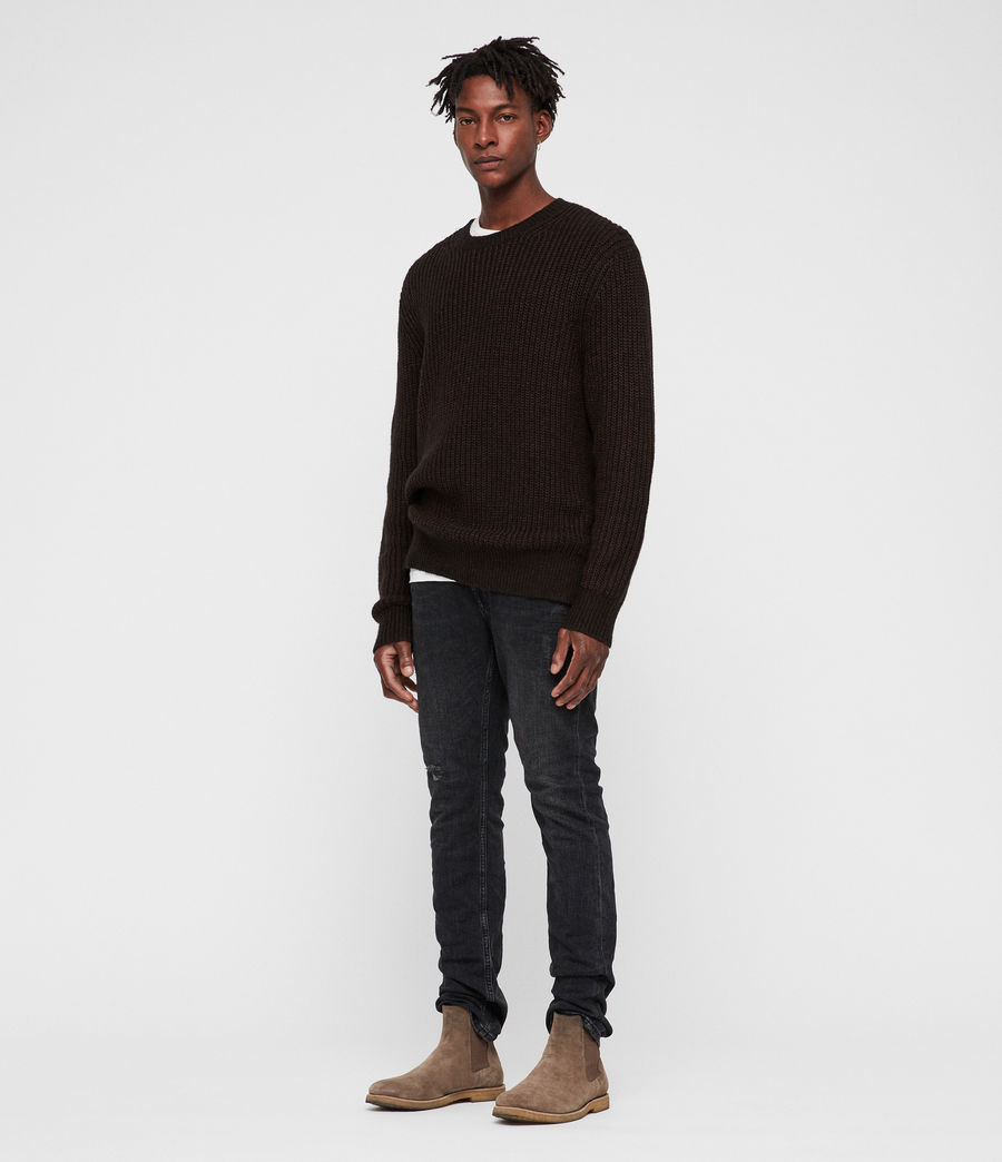 Men's Tilman Crew Jumper (dark_rust_red) - Image 3