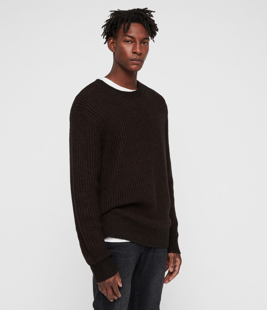 Men's Tilman Crew Jumper (dark_rust_red) - Image 4