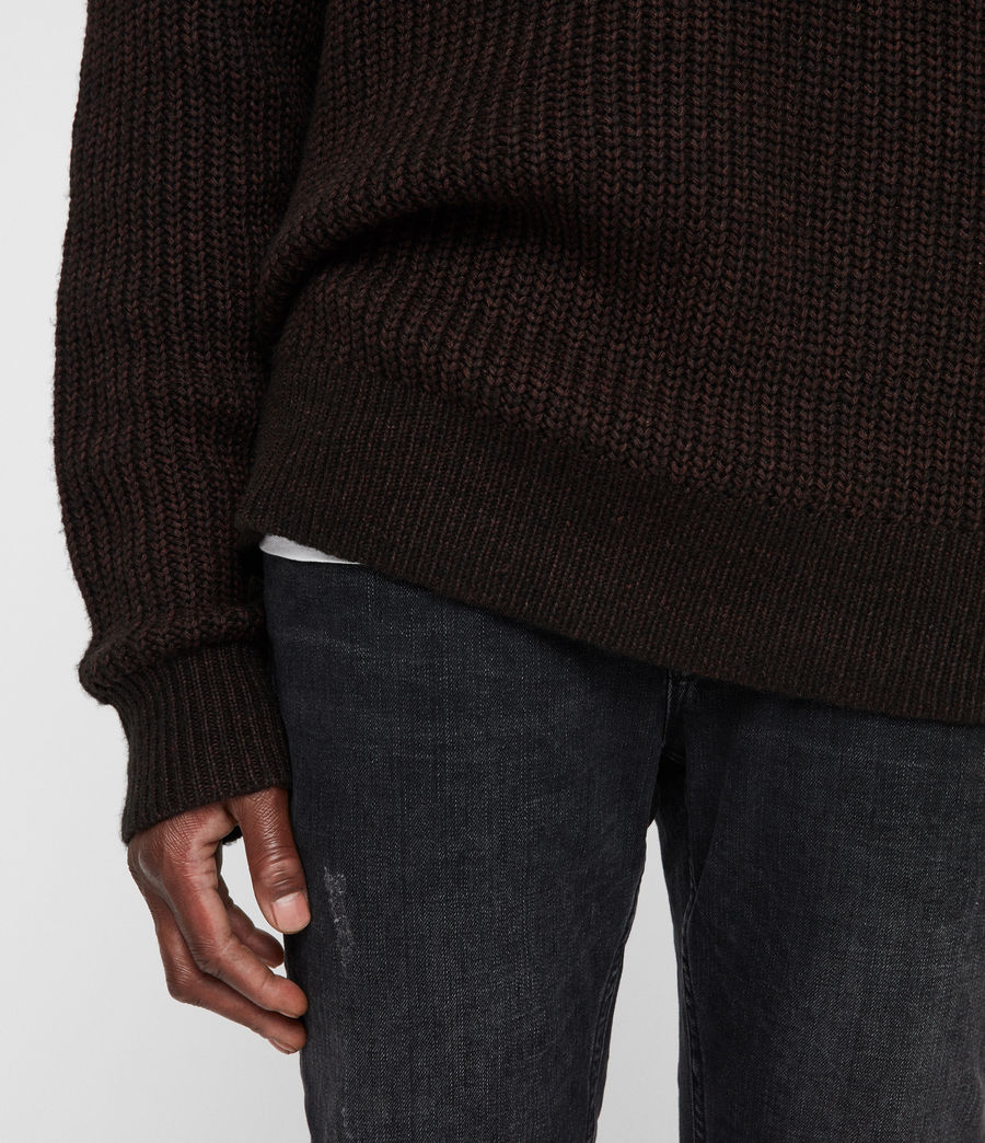 Men's Tilman Crew Jumper (dark_rust_red) - Image 5