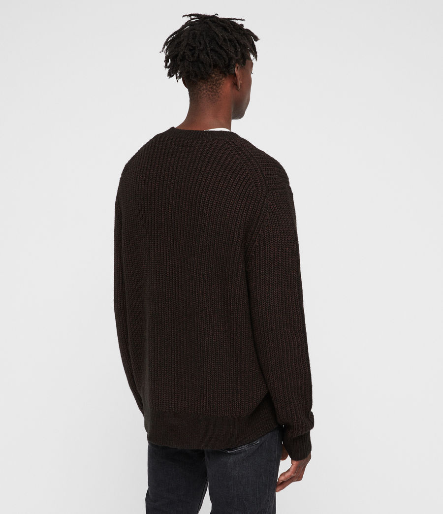 Men's Tilman Crew Jumper (dark_rust_red) - Image 6