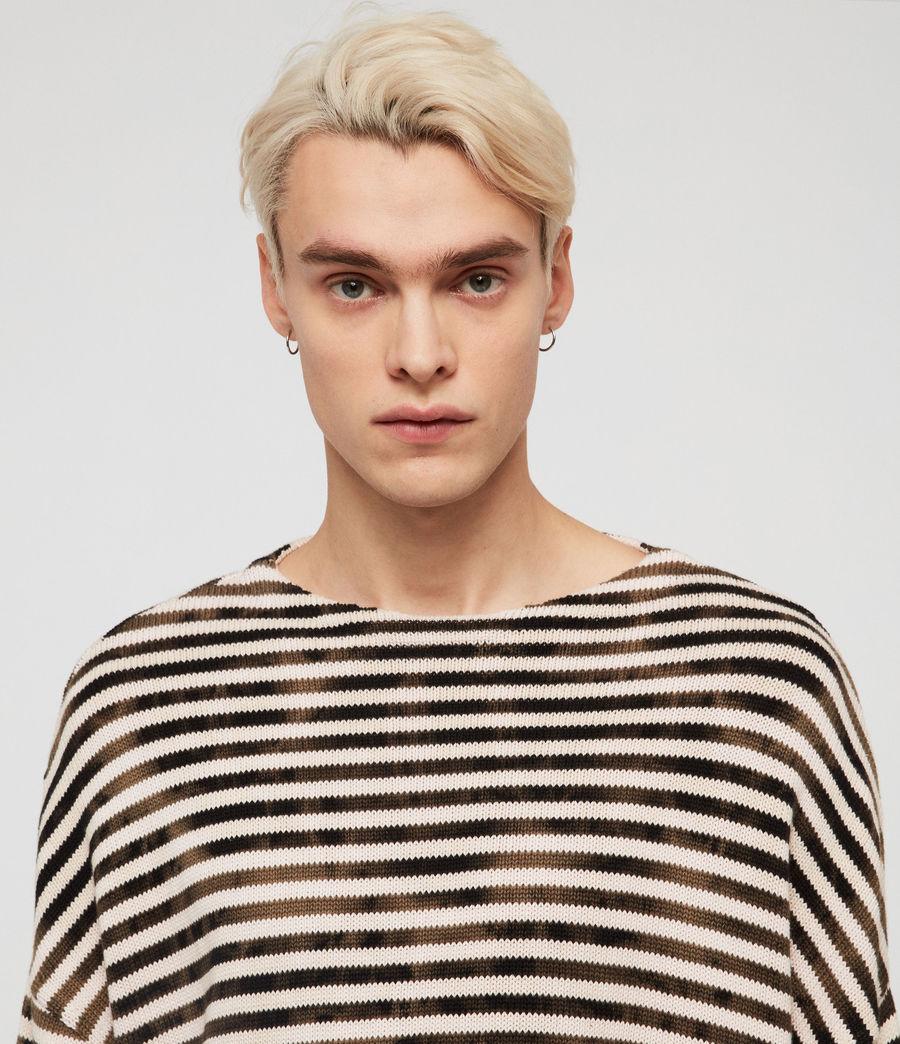 Herren Acid Stripe Pullover (black_ecru) - Image 3