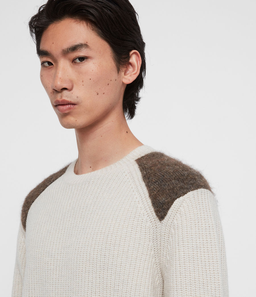 Men's Falter Crew Jumper (ecru_fawn_brown) - Image 2