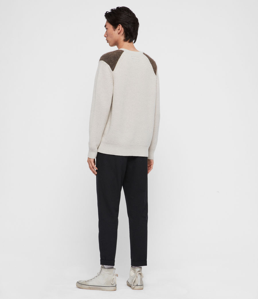 Men's Falter Crew Jumper (ecru_fawn_brown) - Image 5
