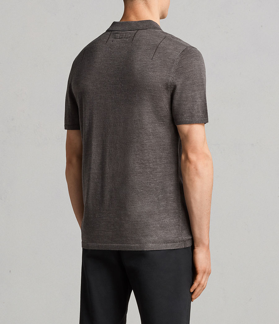 Mens Mode Merino Polo Shirt (heath_grey_marl) - Image 4