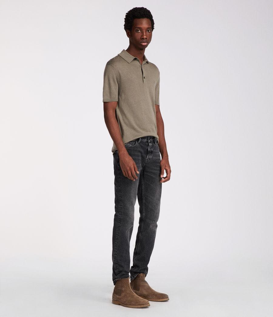 Men's Mode Merino Polo (trench_khaki) - Image 1
