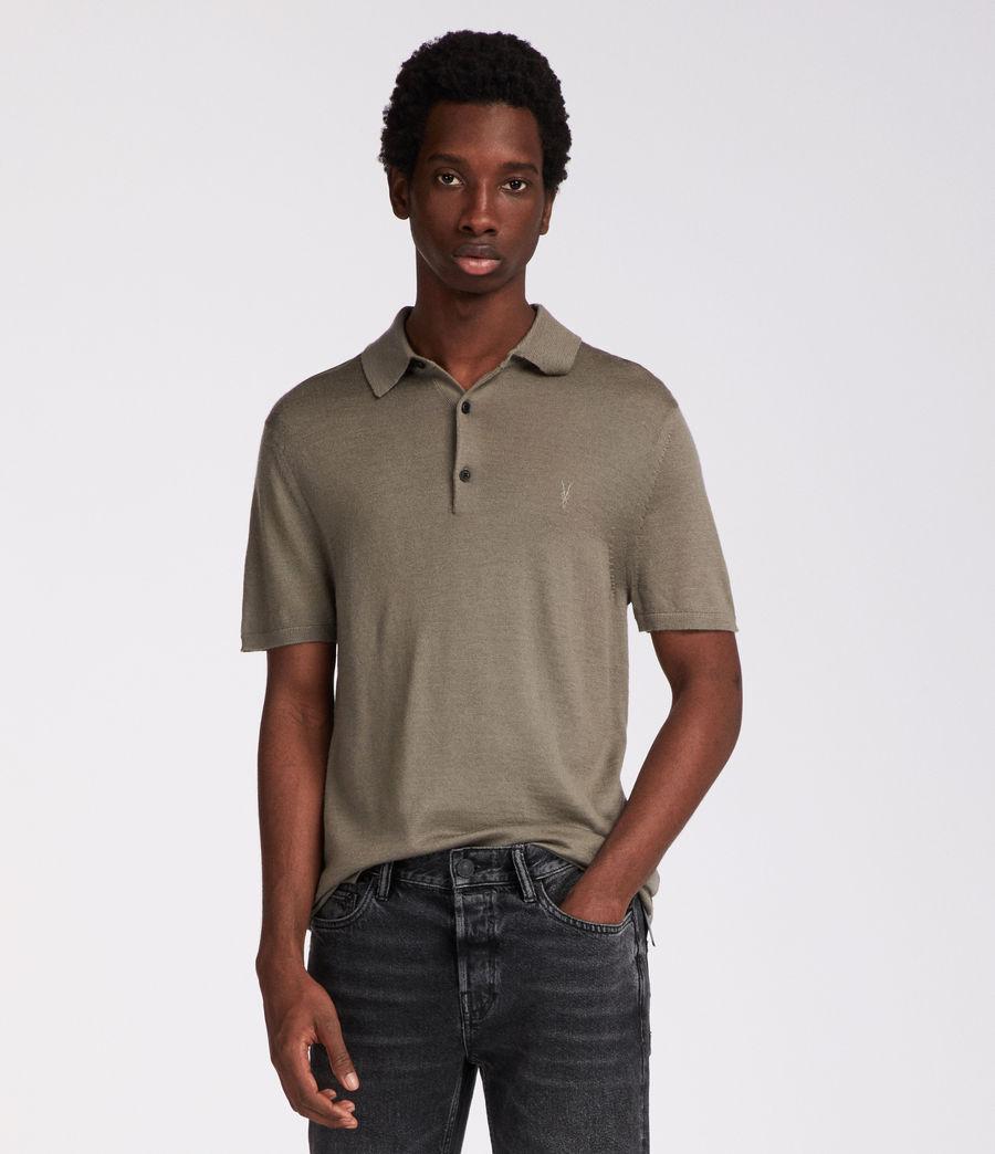 Mens Mode Merino Polo (trench_khaki) - Image 2