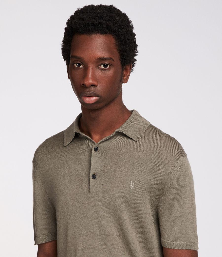 Mens Mode Merino Polo (trench_khaki) - Image 3