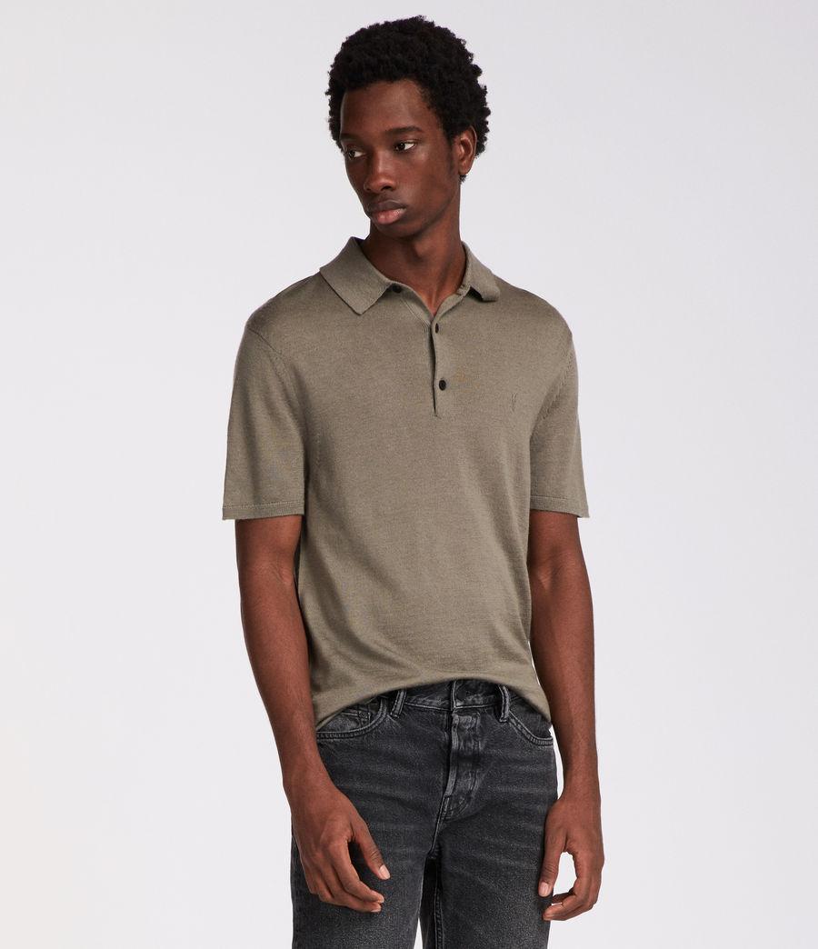 Men's Mode Merino Polo (trench_khaki) - Image 4