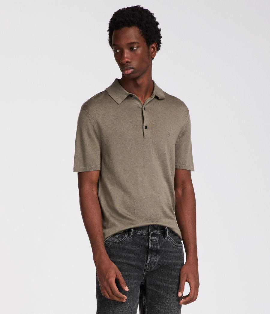 Mens Mode Merino Polo (trench_khaki) - Image 4