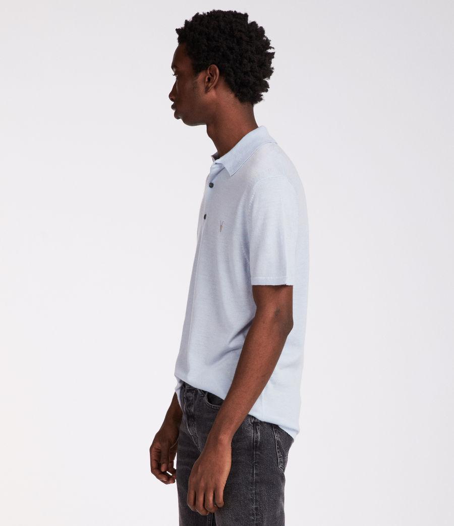 Hombres Polo Mode Merino (foss_blue) - Image 4