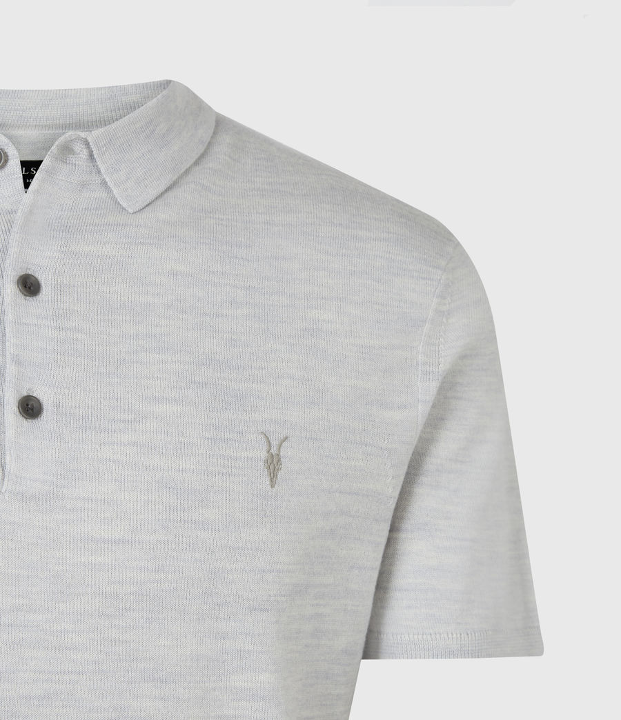 Men's Mode Merino Short Sleeve Polo Shirt (stone_green_marl) - Image 5