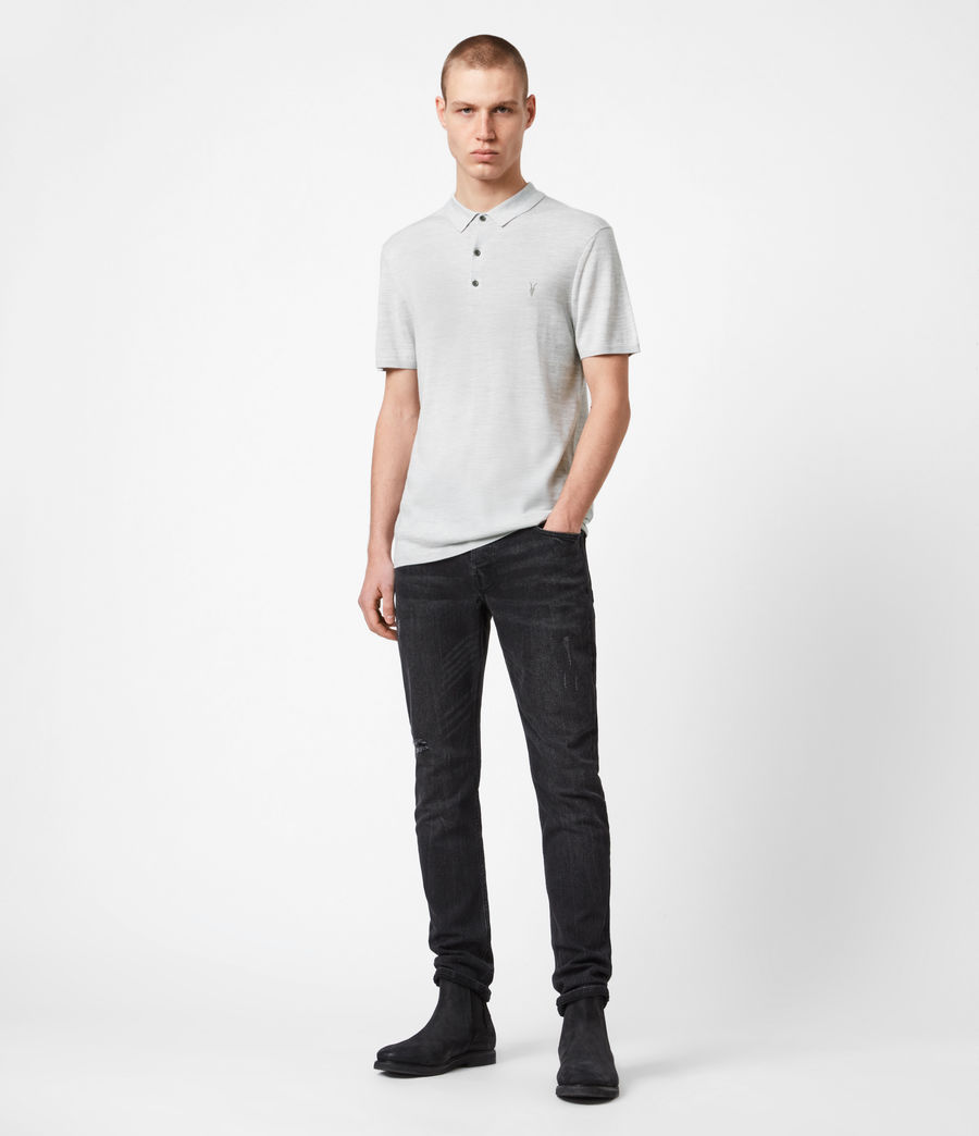 Men's Mode Merino Short Sleeve Polo Shirt (stone_green_marl) - Image 6