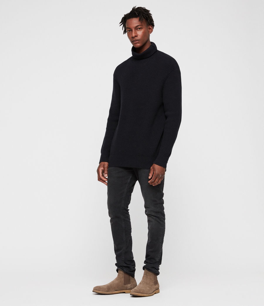 Mens Jett Funnel Sweater (ink_navy) - Image 3
