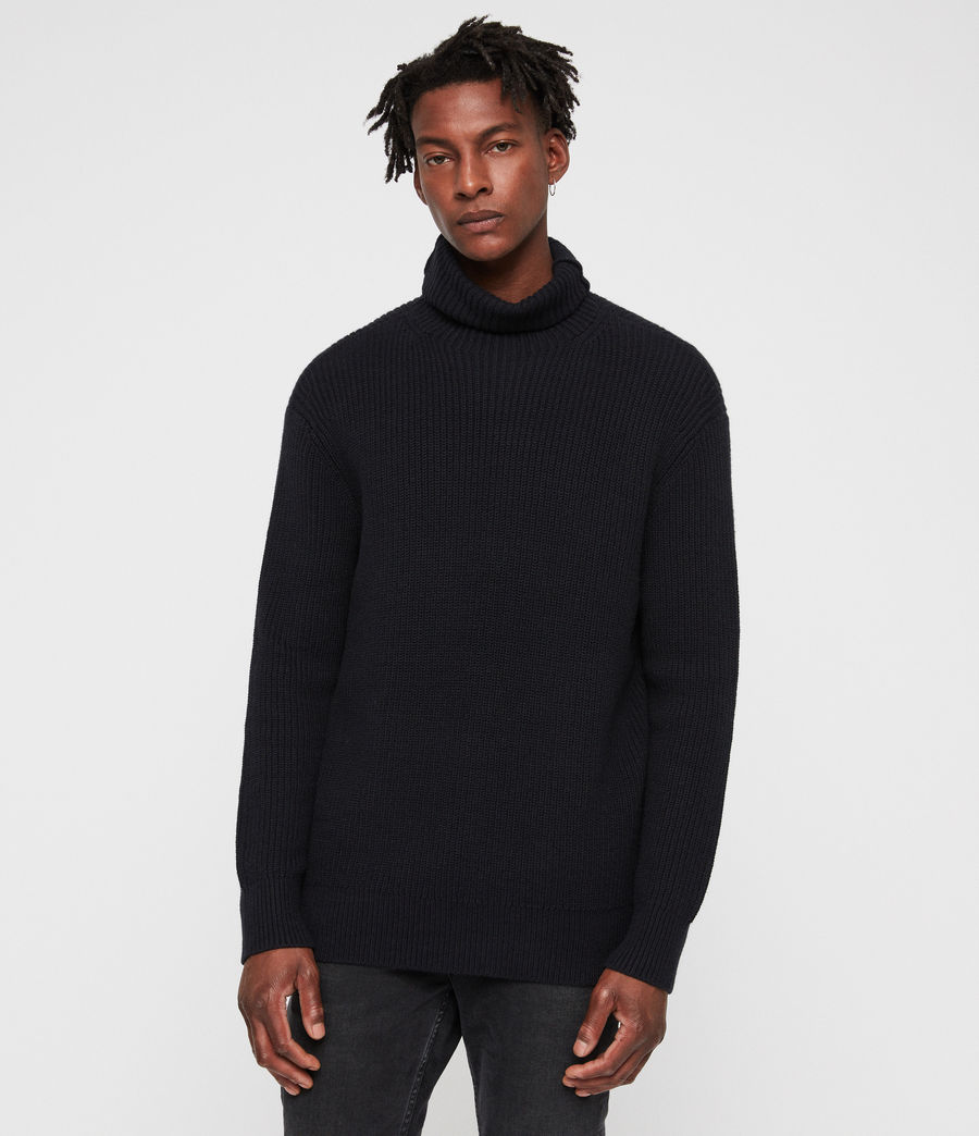 Mens Jett Funnel Sweater (ink_navy) - Image 4