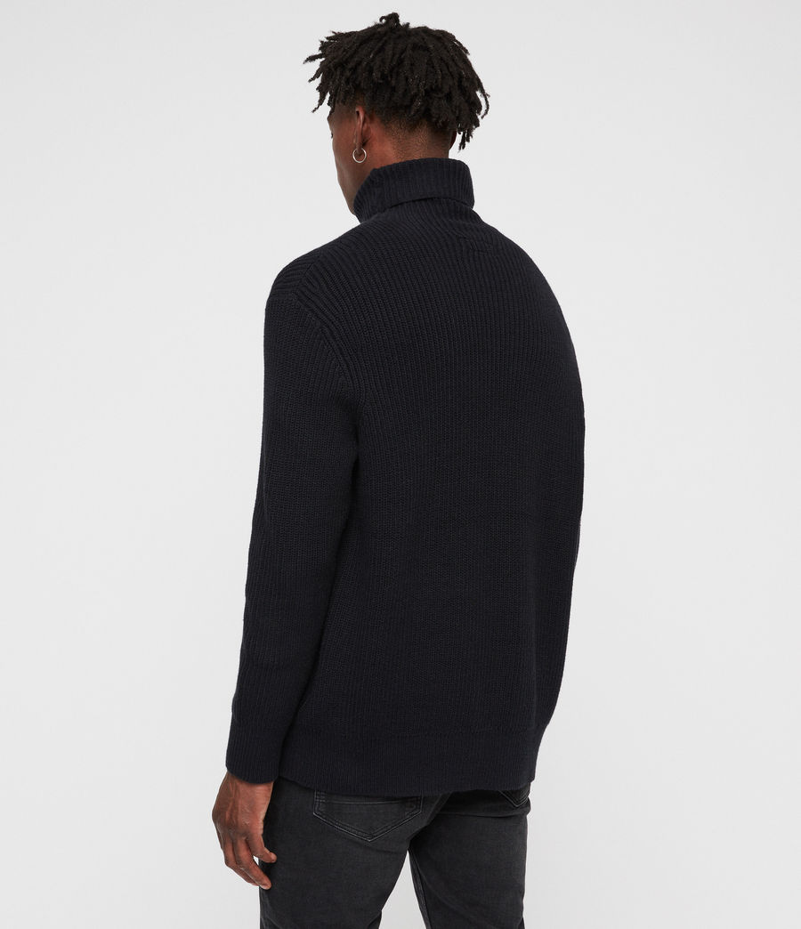 Mens Jett Funnel Sweater (ink_navy) - Image 5