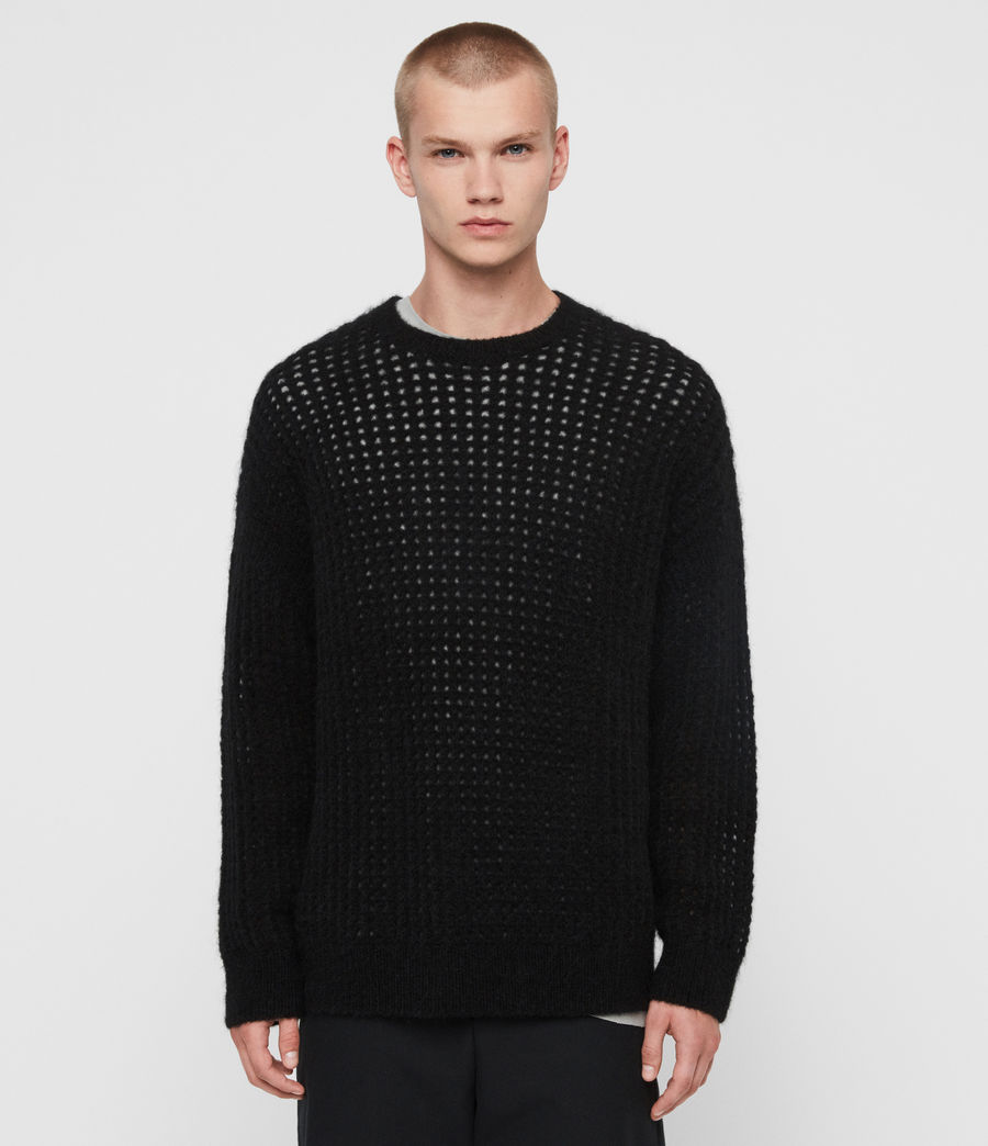 Mens Tarlen Crew Sweater (black) - Image 1