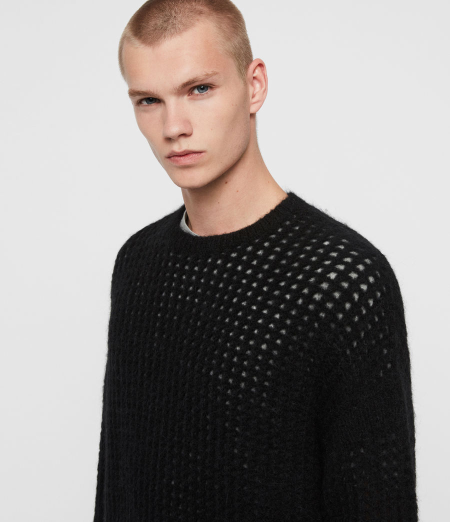 Mens Tarlen Crew Sweater (black) - Image 2