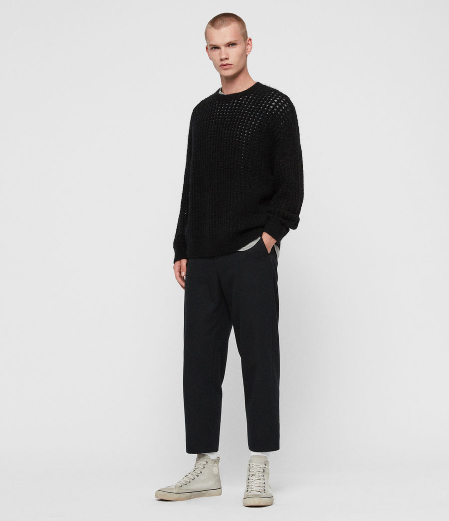 Mens Tarlen Crew Sweater (black) - Image 3