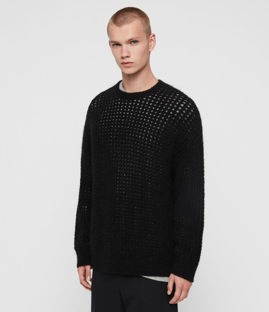 Mens Tarlen Crew Sweater (black) - Image 4