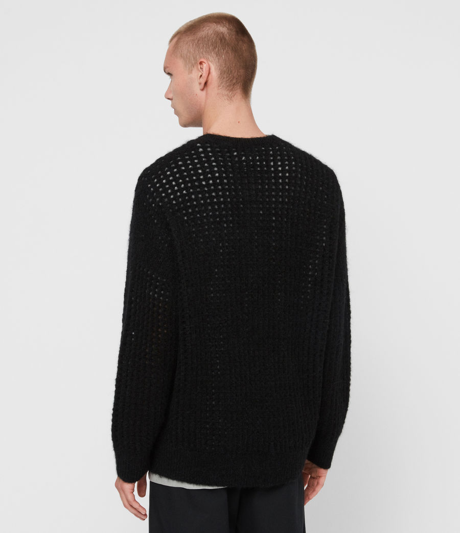 Mens Tarlen Crew Sweater (black) - Image 5