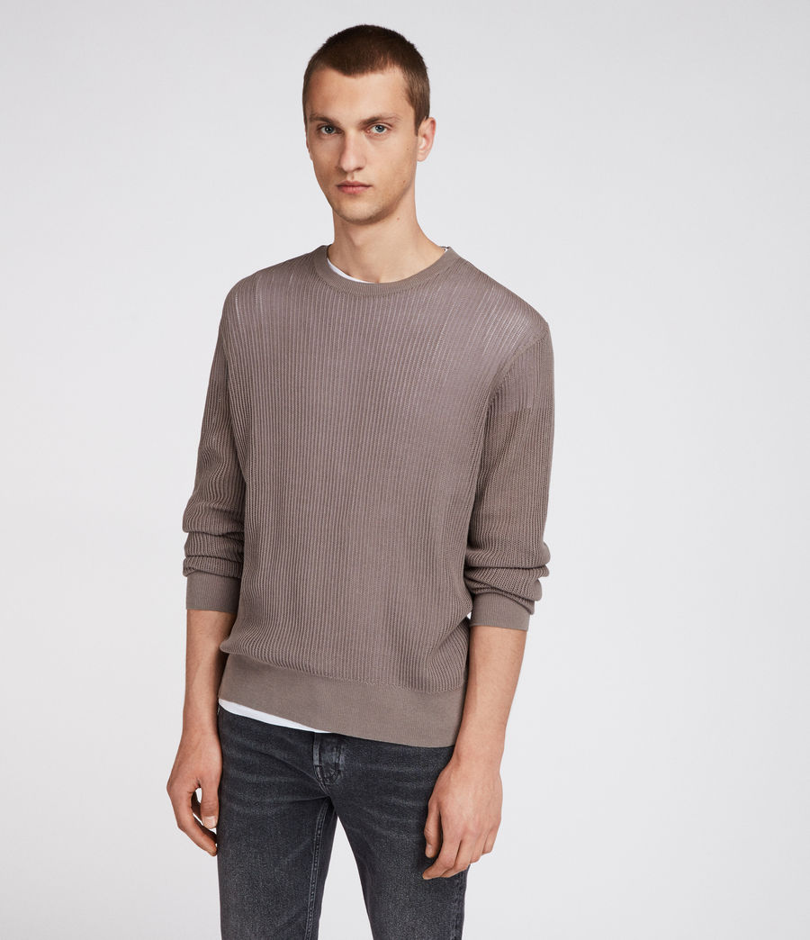 Men's Ave Crew Jumper (slate_grey) - Image 1