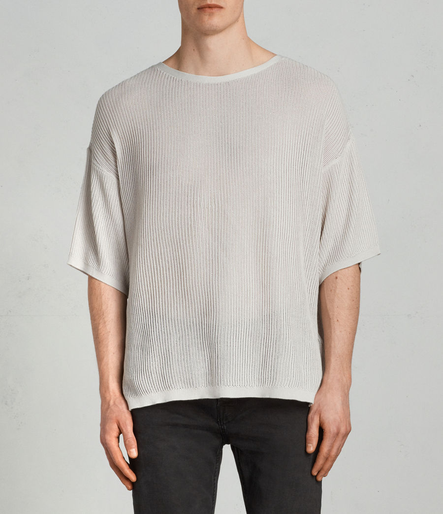 Men's Ave Crew Knit Top (grain_white) - Image 1