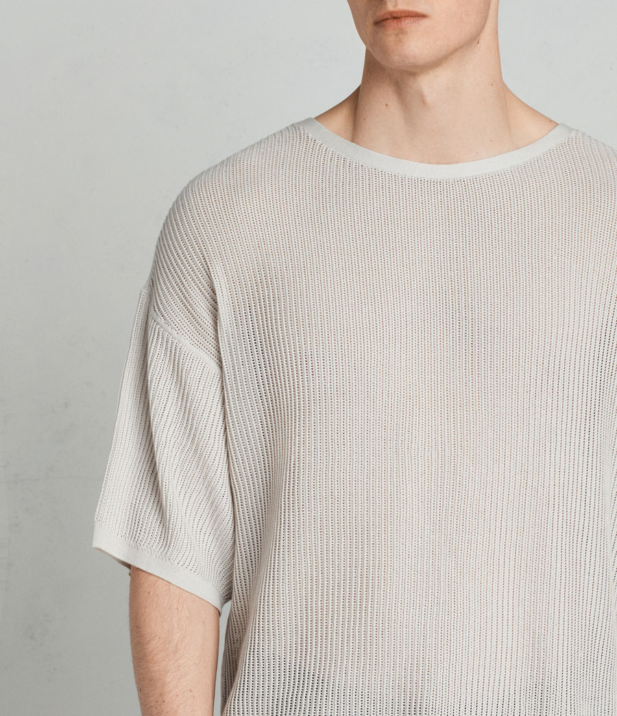 Men's Ave Crew Knit Top (grain_white) - Image 2