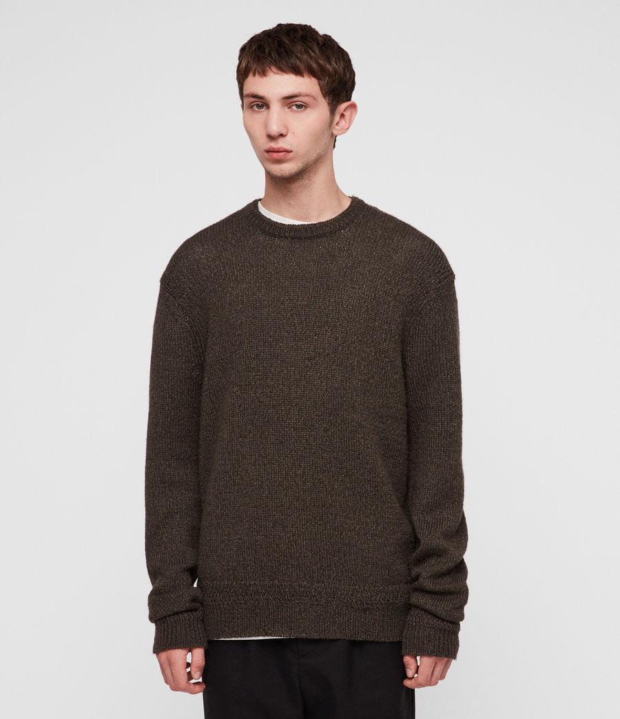 Mens Ektan Crew Sweater (khaki_brown) - Image 1