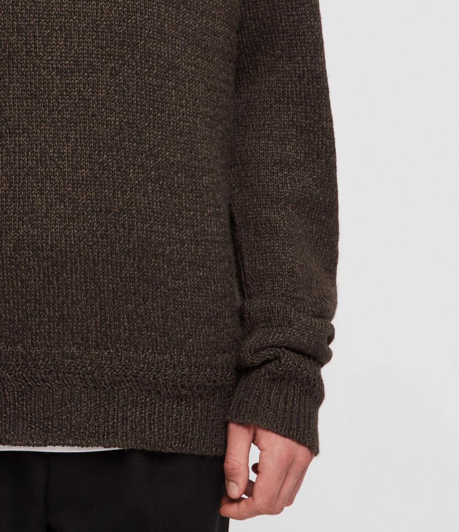 Mens Ektan Crew Sweater (khaki_brown) - Image 2