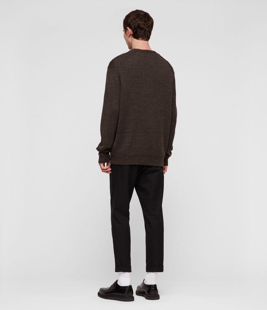 Mens Ektan Crew Sweater (khaki_brown) - Image 4