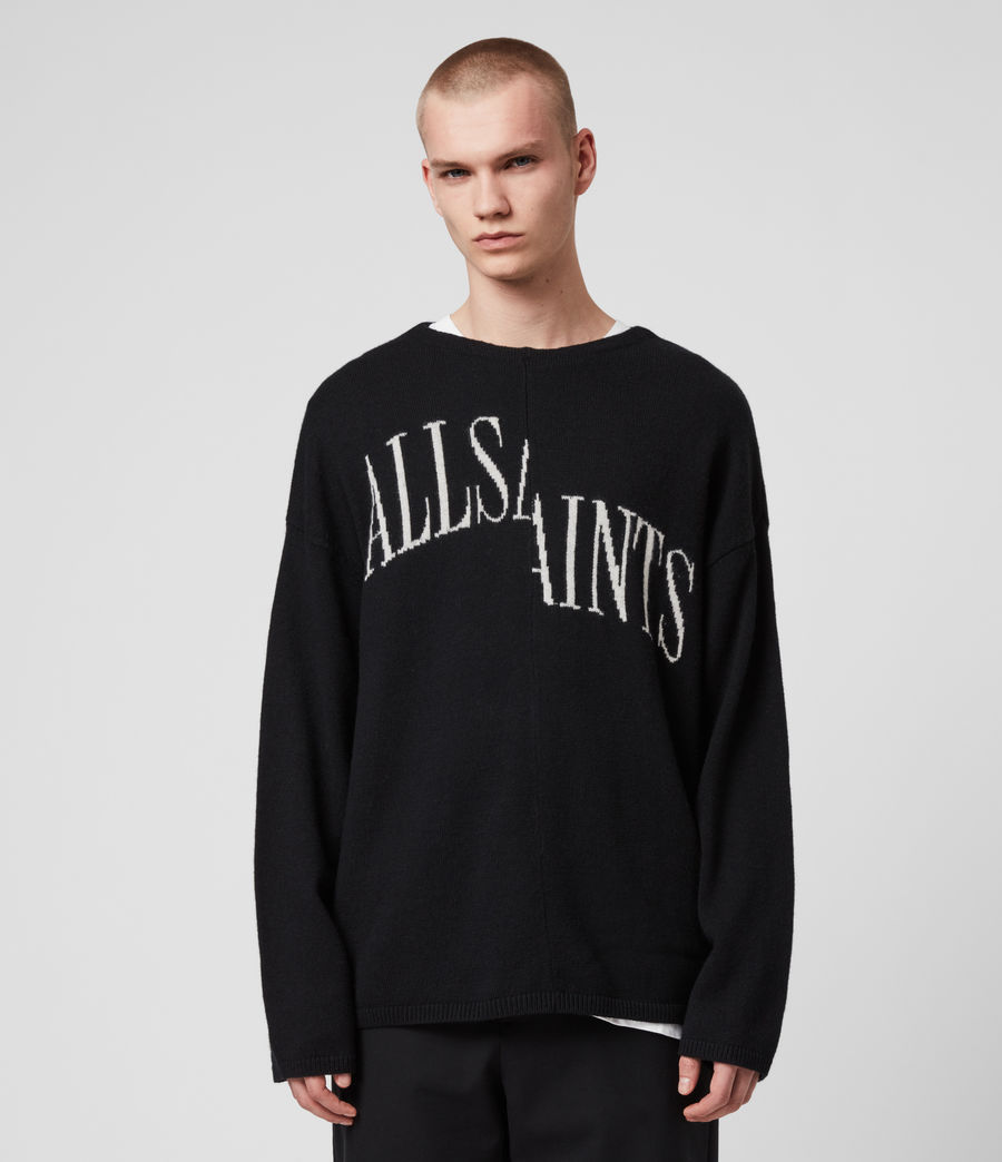 Men's Split Saints Jumper (black) - Image 1