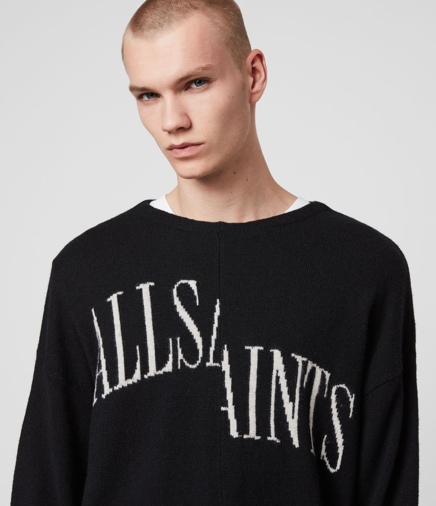 Men's Split Saints Jumper (black) - Image 2