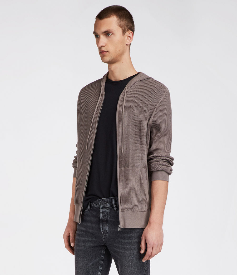 Hommes Sweat Zippé Ave (slate_grey) - Image 1