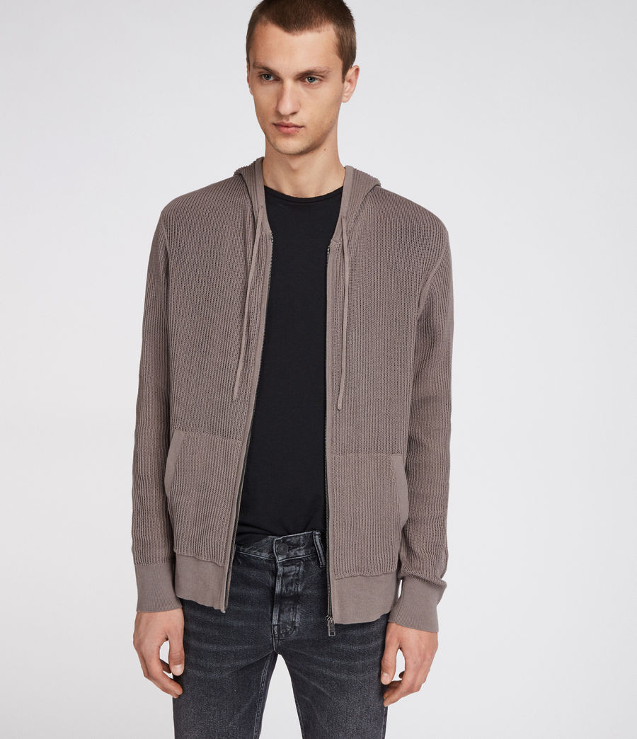 Hommes Sweat Zippé Ave (slate_grey) - Image 3