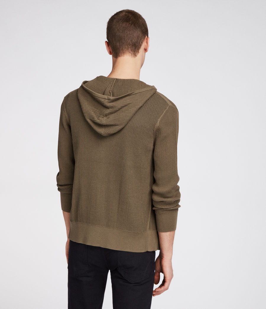 Hombres Sudadera con capucha Ave Zip (olive_green) - Image 2
