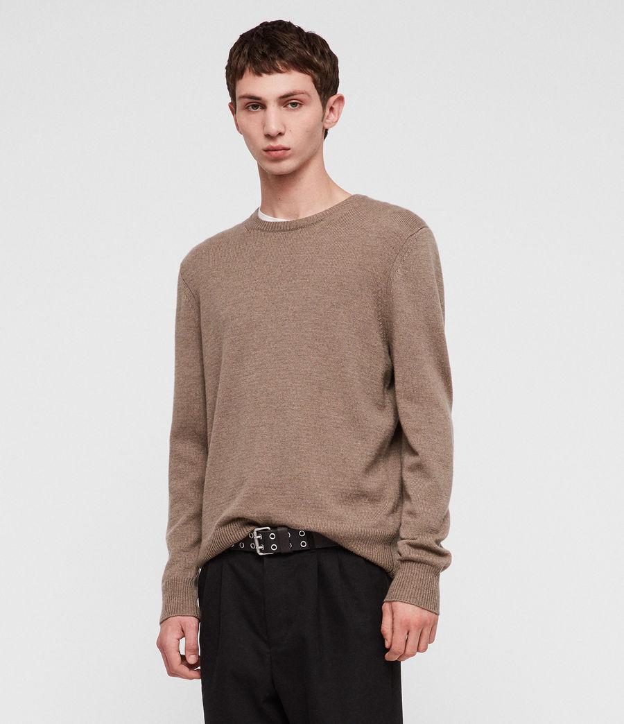 Mens Travon Crew Sweater (shale_brown) - Image 1