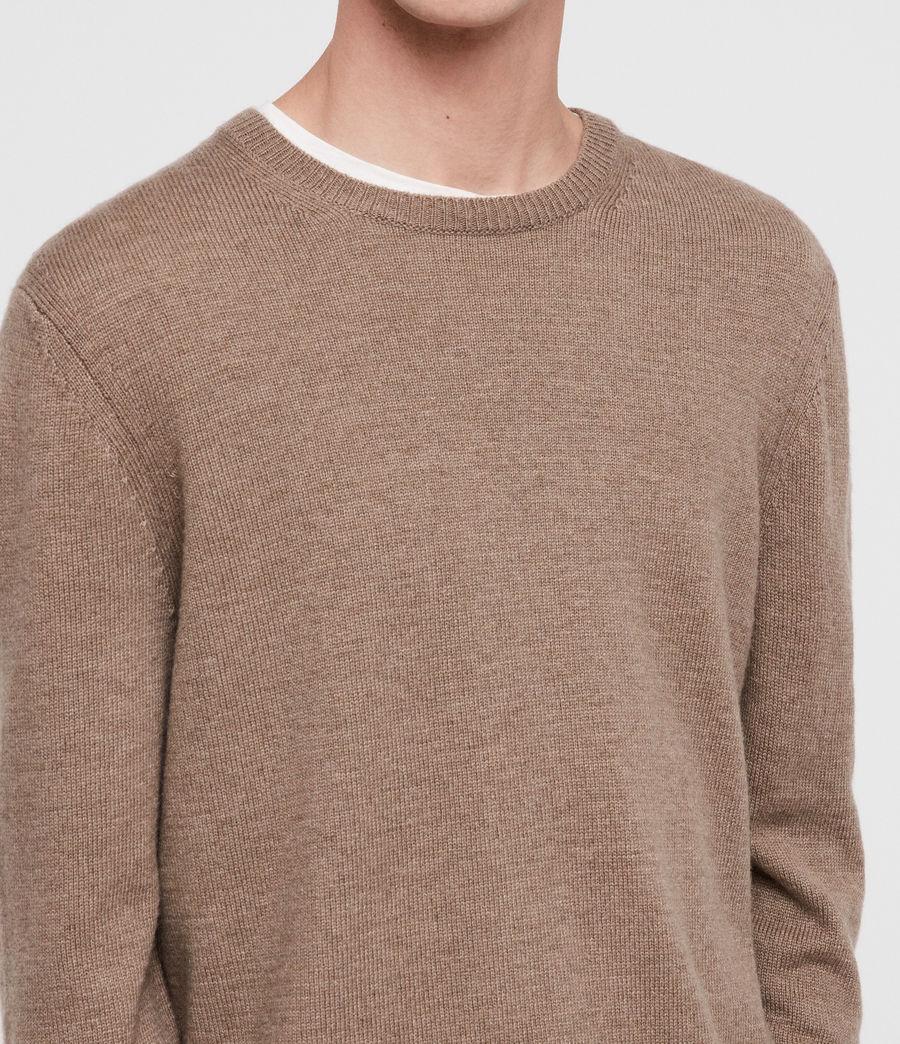 Mens Travon Crew Sweater (shale_brown) - Image 2