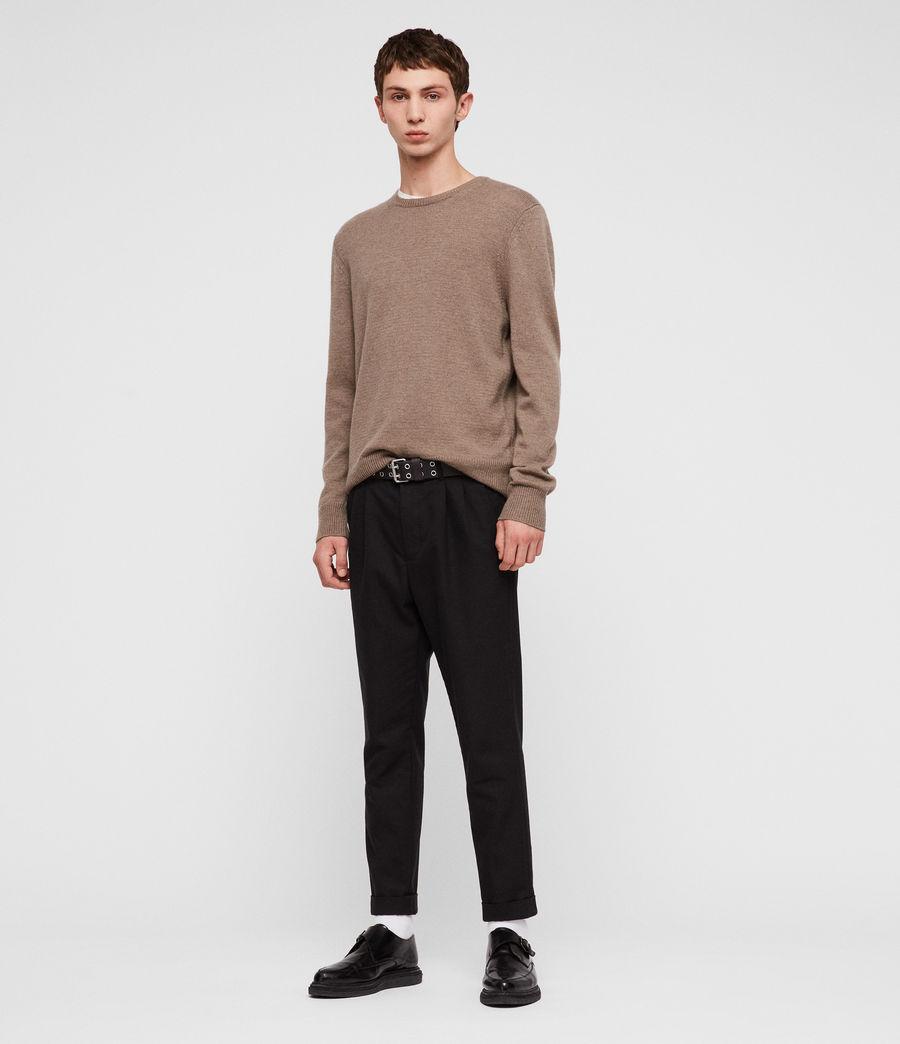 Mens Travon Crew Sweater (shale_brown) - Image 3