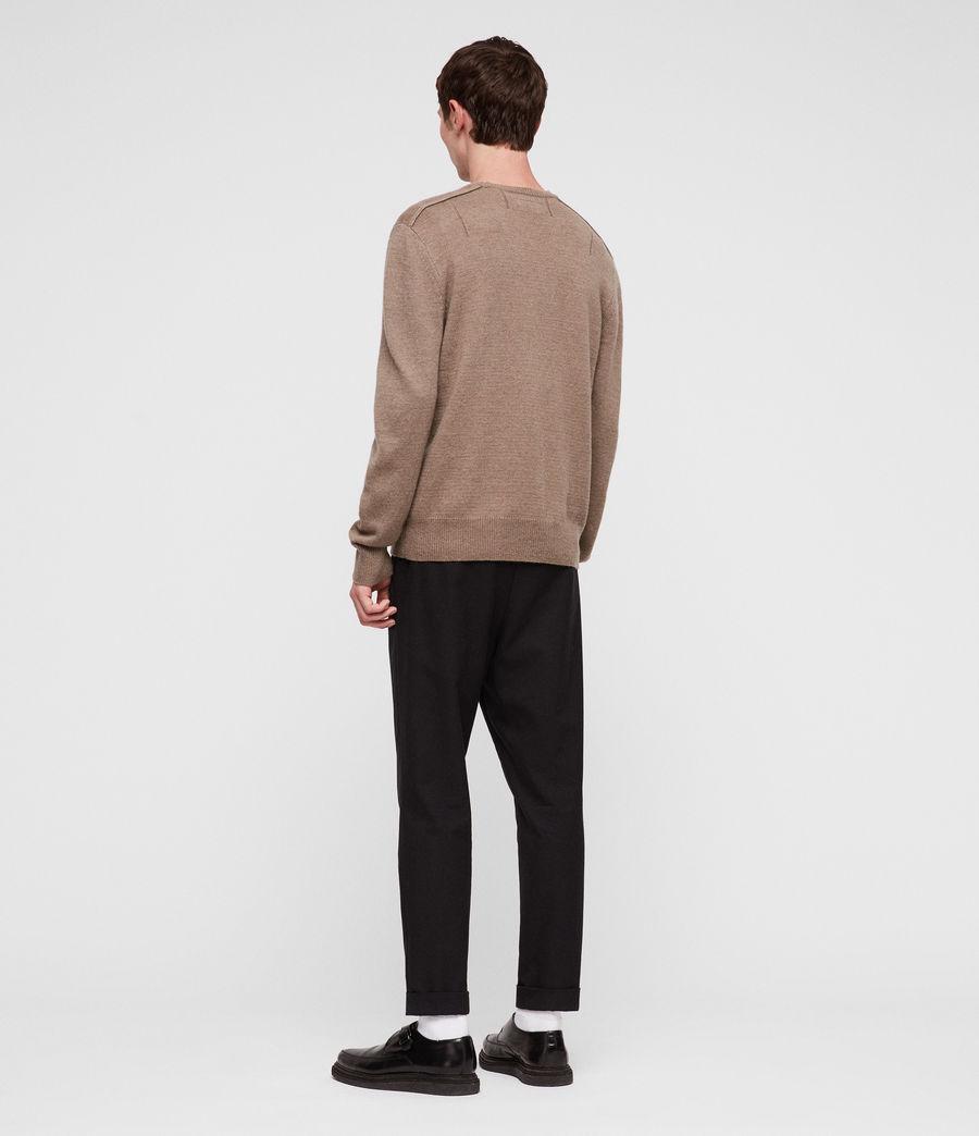 Mens Travon Crew Sweater (shale_brown) - Image 4