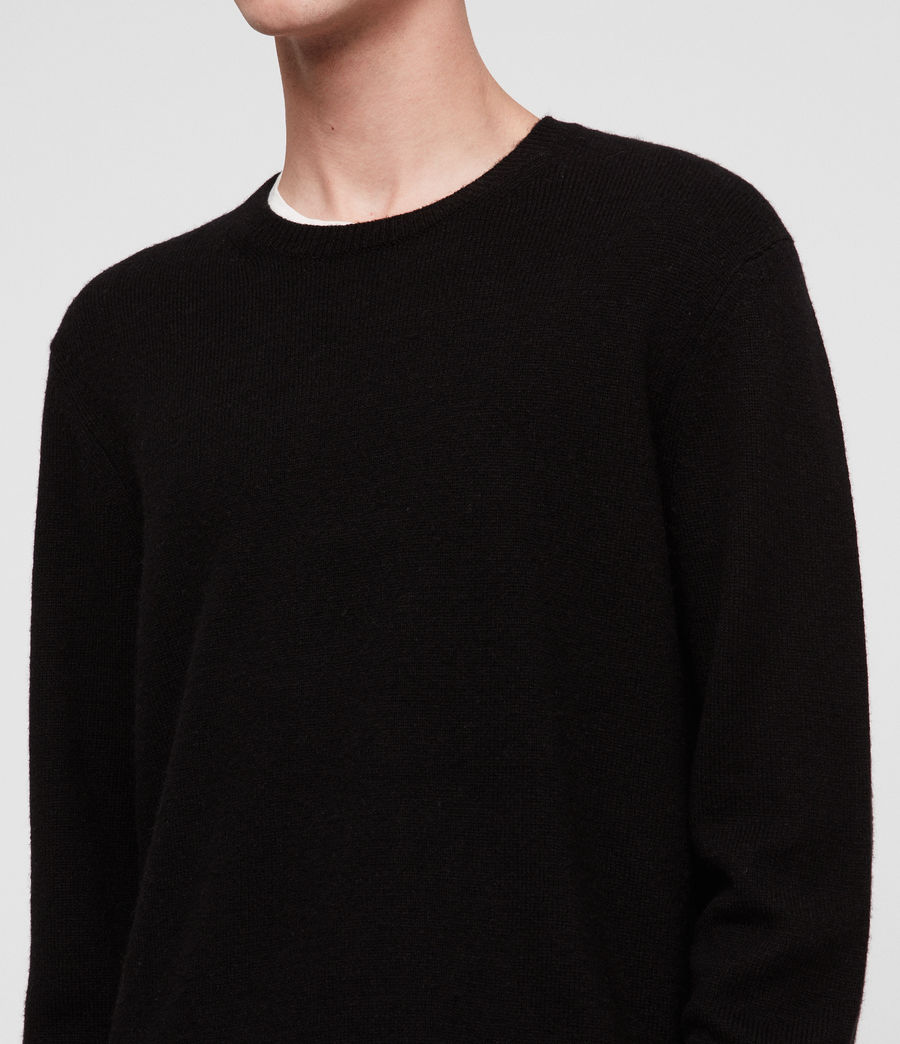 Mens Travon Crew Sweater (black) - Image 2