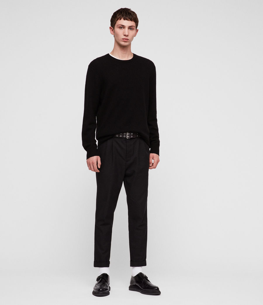 Mens Travon Crew Sweater (black) - Image 3