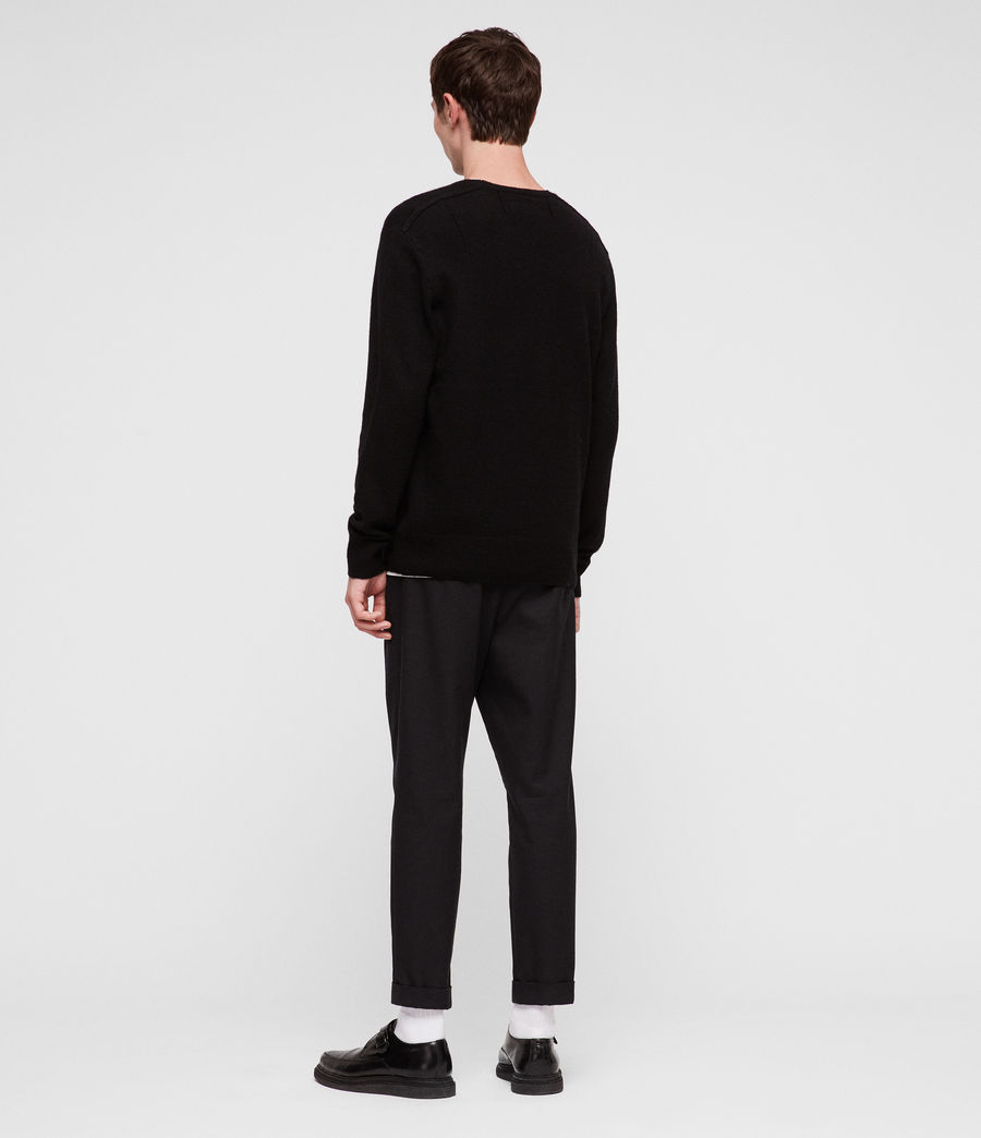 Mens Travon Crew Sweater (black) - Image 4
