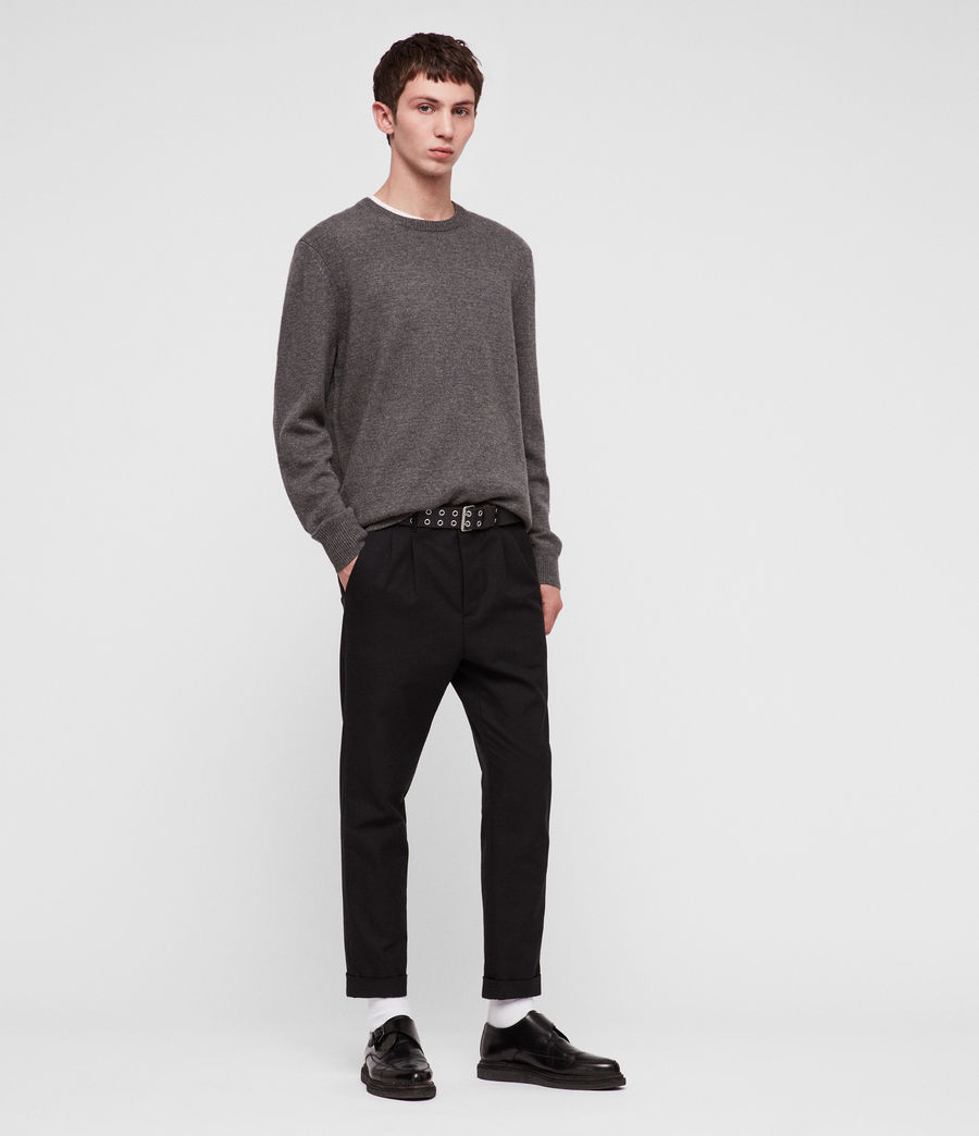 Mens Travon Crew Sweater (charcoal_marl) - Image 1