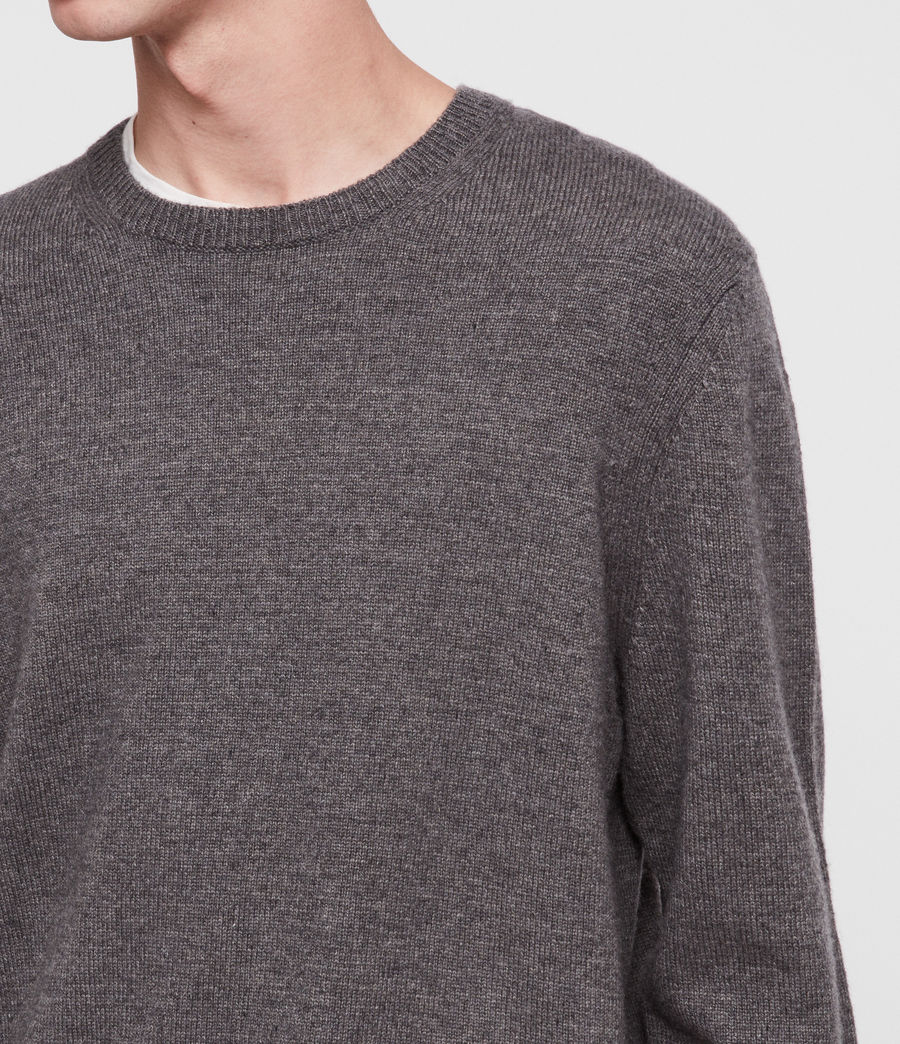 Mens Travon Crew Sweater (charcoal_marl) - Image 2