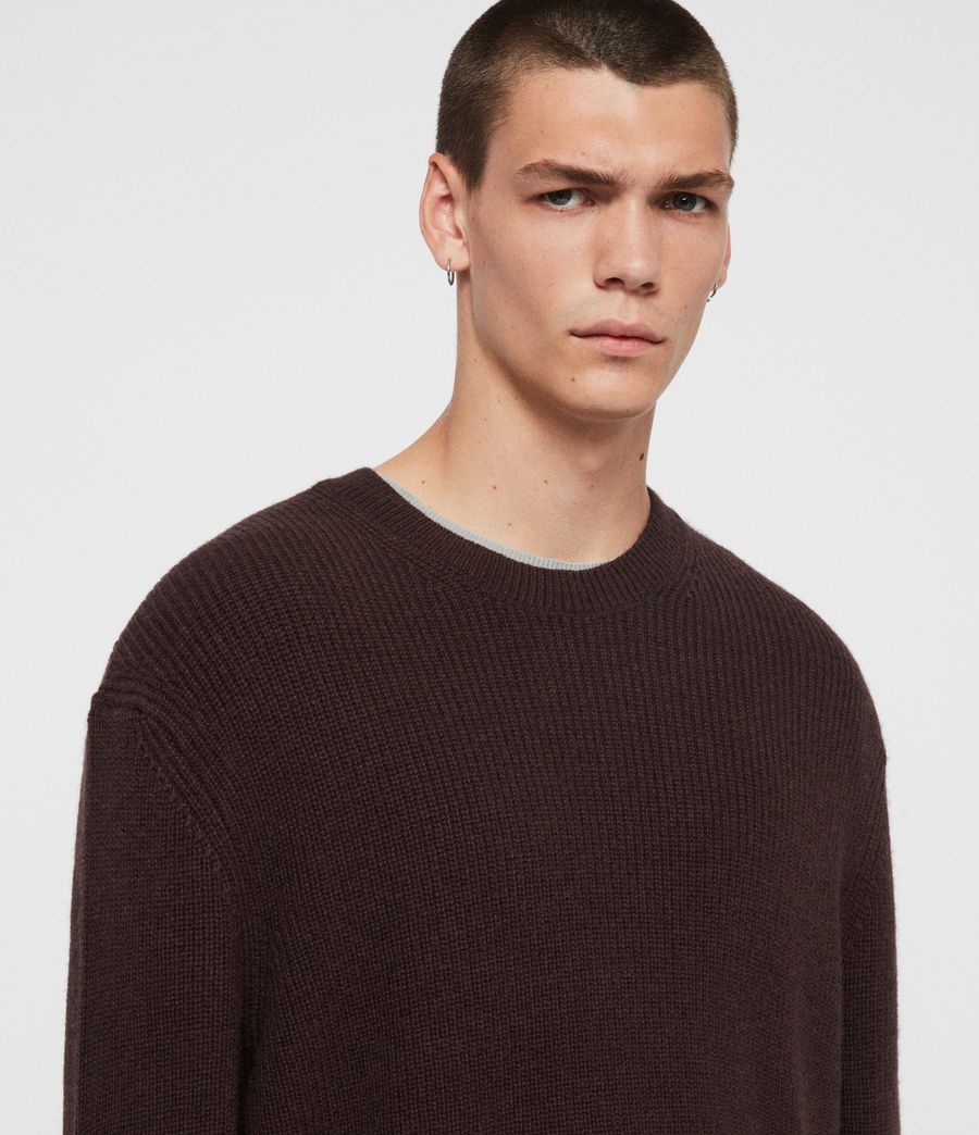 Men's Jensen Crew Jumper (oxblood_red) - Image 2