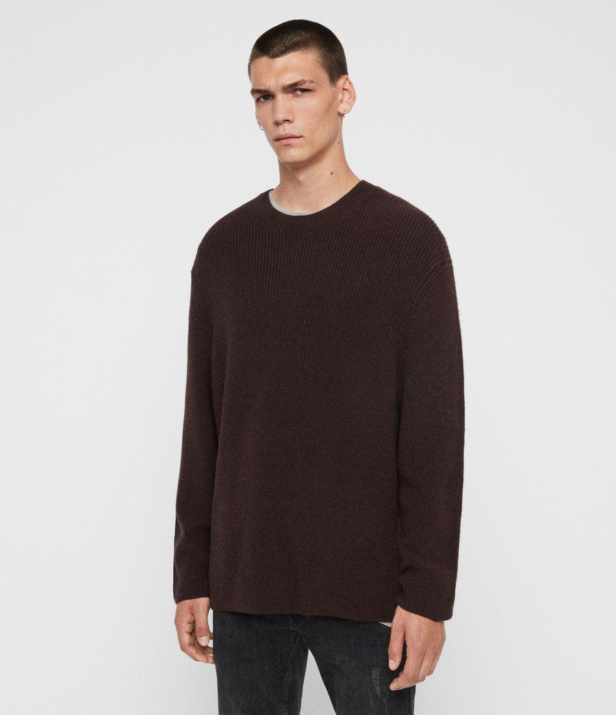 Men's Jensen Crew Jumper (oxblood_red) - Image 3